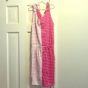 Pink and white striped Tommy Hilfiger dress